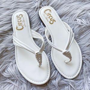 Sam Edelman Cassiana White Patent Sandal Flip Flop